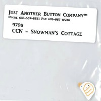 Just Another Button Company - Frosty Forest Part 3 - Snowman's Cottage button pack