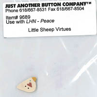 Just Another Button Company - Little Sheep Virtues #3 - Peace Button Pack