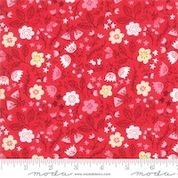 Moda - Just Another Walk in the Woods - Toss the Garden Red 20524-14