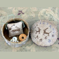 Pineberry Lane - Two Hares Marking Sampler Sewing Box pattern