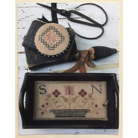 Stacy Nash Primitives - Quaker Sewing Tray, Pin Disk and Strawberry Pinkeep
