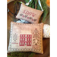 Stacy Nash Primitives - Snowed In Pinkeep and Ornament