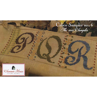 Summer House Stitche Workes - Calico Sampler #6 - PQR