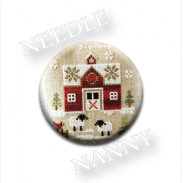 Zappy Dots - Little House Farmhouse Christmas - Little Red Barn Needle Nanny